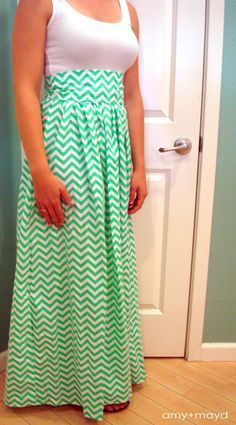 0c21f9465 maxi dress tutorial high waist. I would make a knee length one..there's a  tutorial on a lil girls skirt