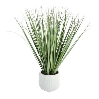 Faux Onion Grass in Ceramic Pot in 2020 | Ceramic pot ...