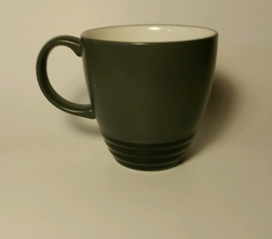 Pfaltzgraff Empire Charcoal & Black Coffee Mug Cup Made In Thailand in Pottery & Glass, Pottery & China, China & Dinnerware | eBay