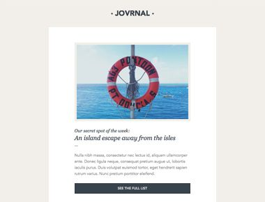Build a free HTML email template in 60 seconds. Journal Template ...