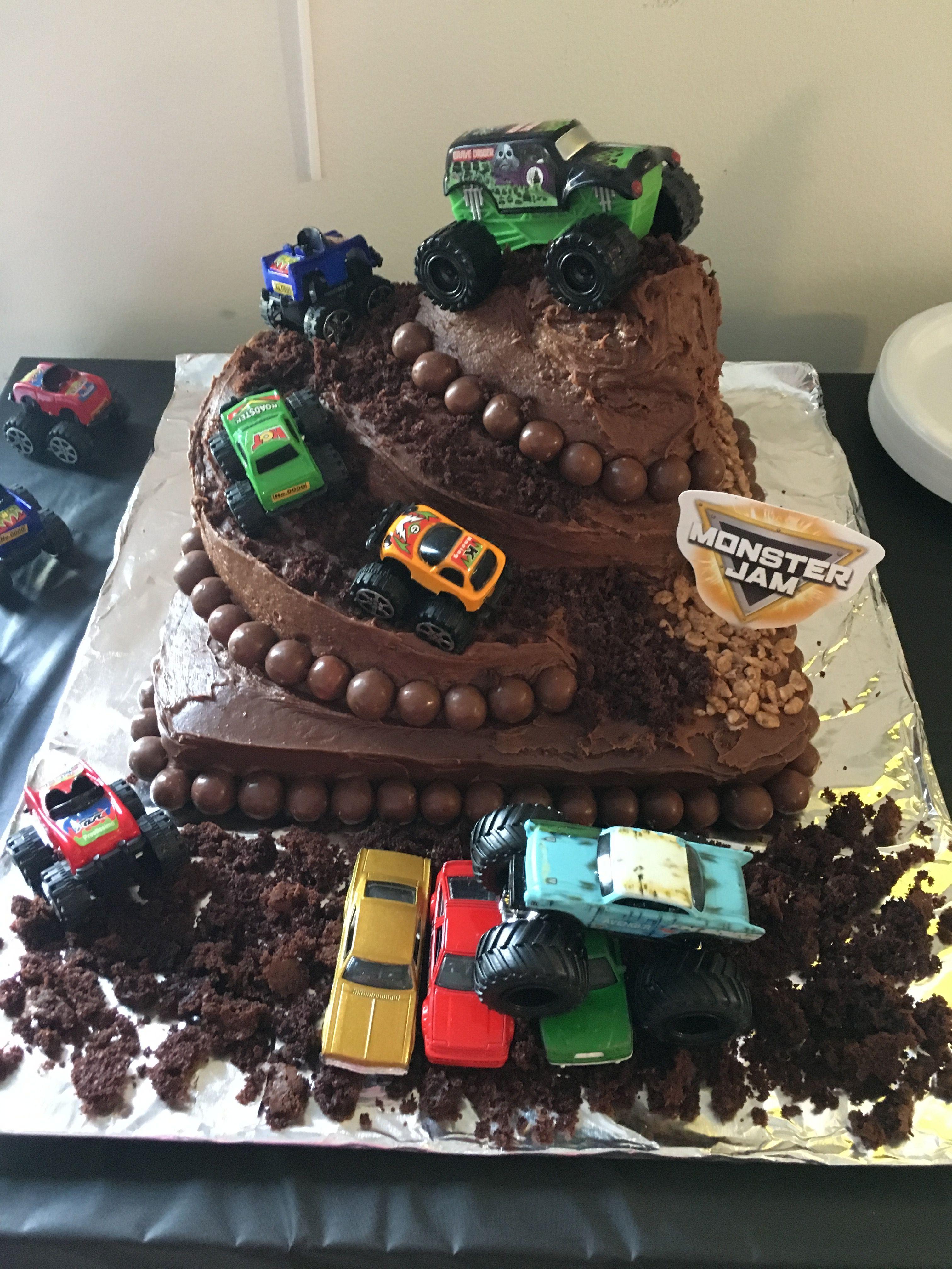 Monster Jam Birthday Cake Monster Jam Birthday Cake Truck