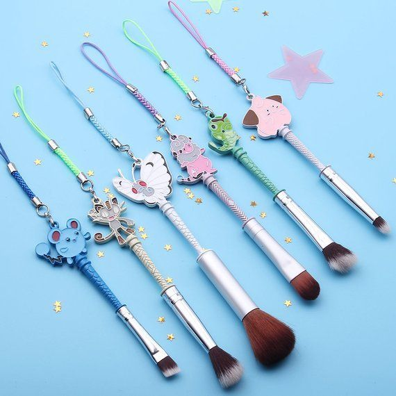 Pokemon Makeup Brushes made by FairyFolkCosmetics -