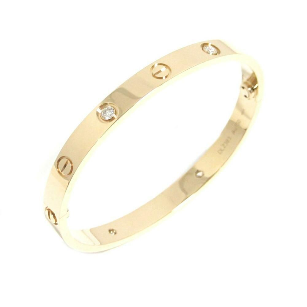 6a78671bb69ce eBay #Sponsored Auth Cartier New Love Bracelet Half Diamond Bangle ...