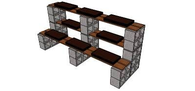 3d Warehouse View Model Garden Shelves Plant Stand Diy Garden Projects