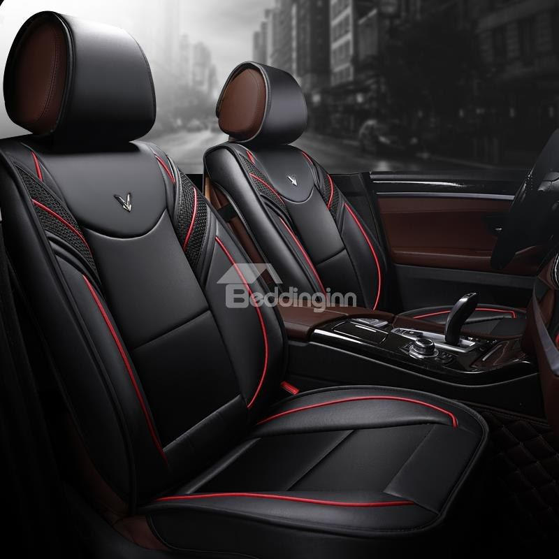 Black CAR PASS Skyline Delux Leather Universal Fit Steering Wheel Cover