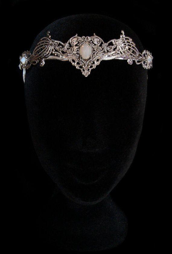 Elven Crown Circlet Wedding Tiara Bridal Elvish Fairy