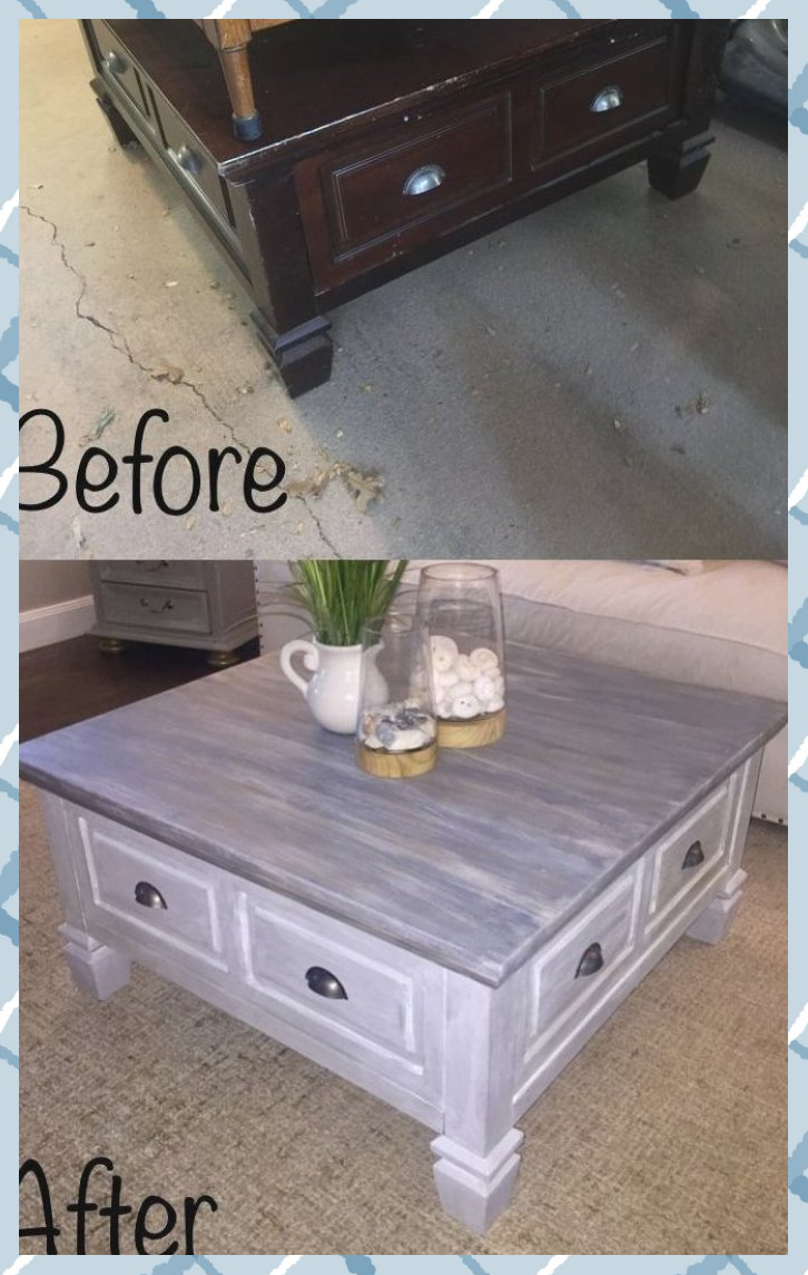 thrift store side table makeover   Side