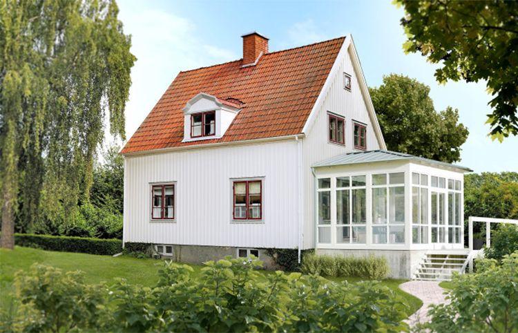 Gammalt hus med ny form