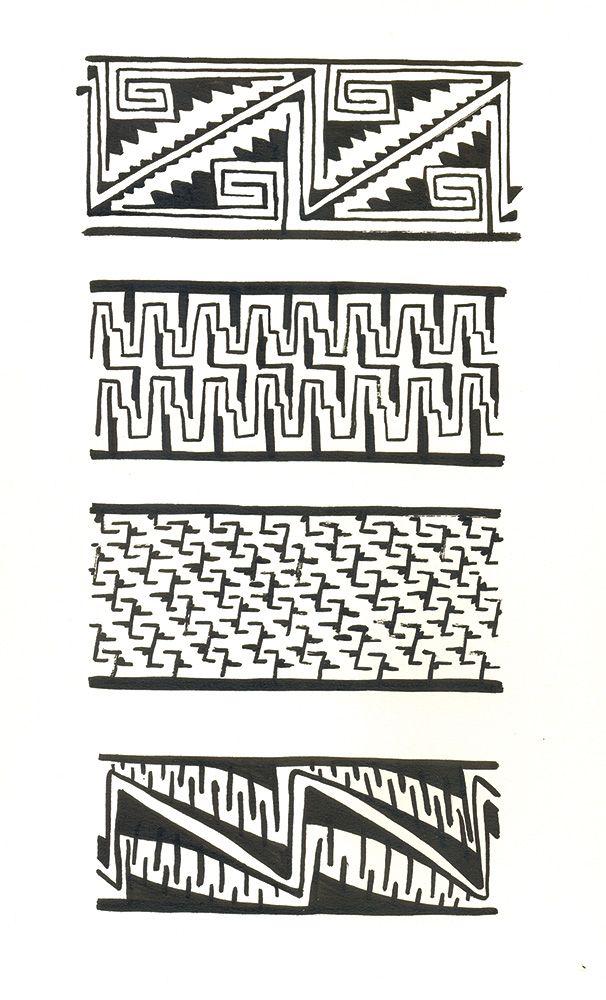 Geometra en la cermica Diaguita  Diaguitas El Molle nimas