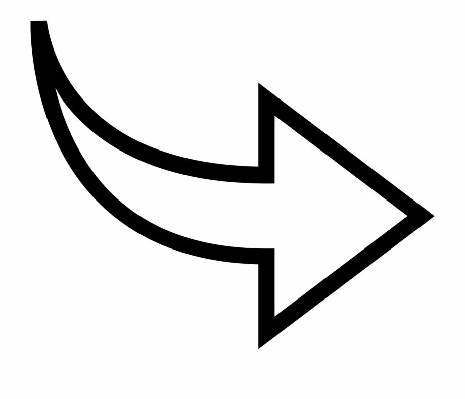 White Curved Arrow Png Curved Arrow Arrow Image Arrow Drawing