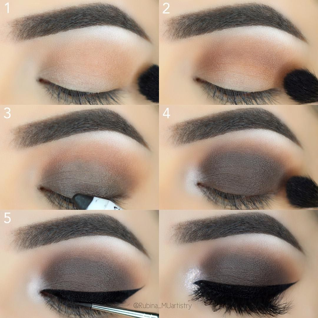 """THANK YOU SO MUCH for 300K 😱😱 LOVE you guys and thank you for your continued support ❤️ ~ Here is a #stepbystep of much requested brown matte smokey eyes. I hope you guys like it 😘 ~ Brows/Concealer: @anastasiabeverlyhills Dark Brown pomade, and """"1.5"""" concealer, Eyes: @shopvioletvoss HG Eye Shadow Palette Glitter: @motivescosmetics gem sparkles - Morganite Liner: @sigmabeauty Wicked Black Gel Eye Liner Lashes: @lillylashes lashes - Carmel Brushes: @morphebrushes and @sigmabeauty : :..."""
