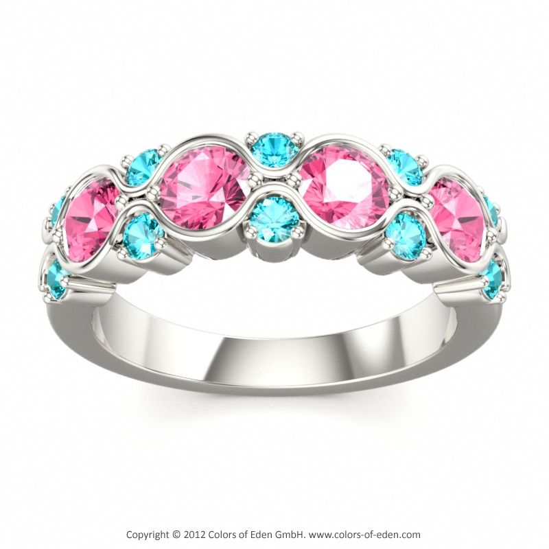 Pink and Blue Ring! flawless!