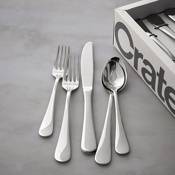 Crate And Barrel Wedding Gifts: Cirrus 52-Piece Flatware Set