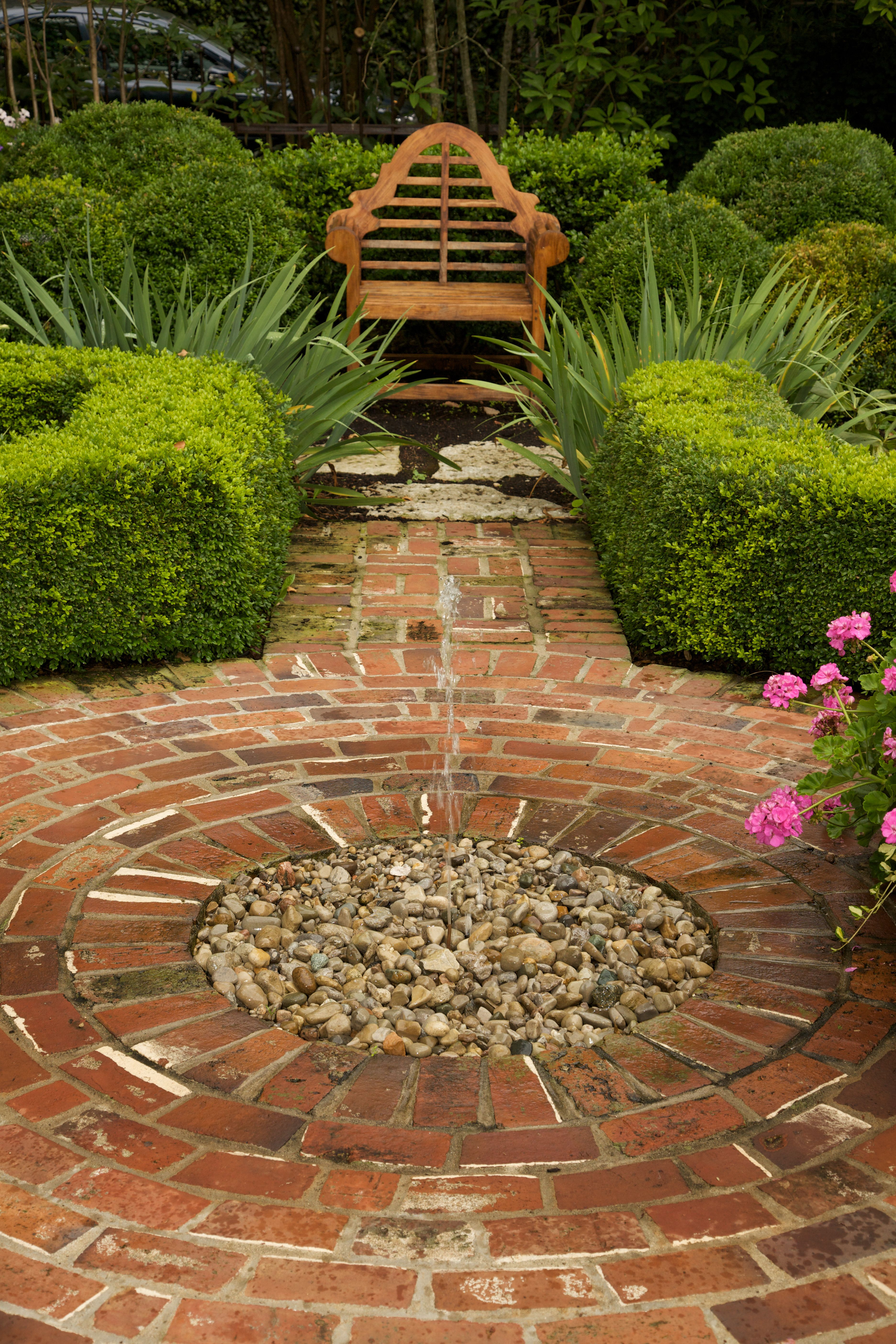 brick paving. @Andrea Adams I thought of your yard. This simple ...