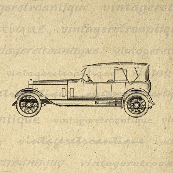Antique Rolls Royce Car Image Digital by VintageRetroAntique ...