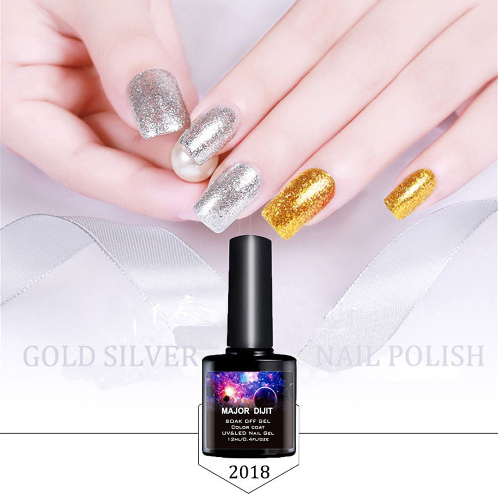 12ML Bling Collection Glitter UV Gel Nail Polish Soak off LED Gold ...