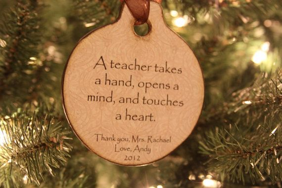 Teacher Ornament Personalized by OhNoAvocado on Etsy, Great Techer gify ideas!