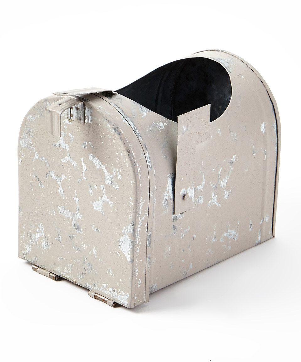 Look what I found on #zulily! Kraft Klub Distressed White Mailbox Planter by Kraft Klub #zulilyfinds