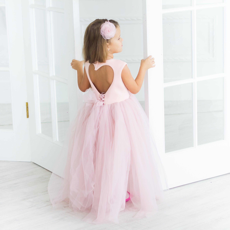 Girl dress pink tutu dress for baby girls kids toddler dress tulle