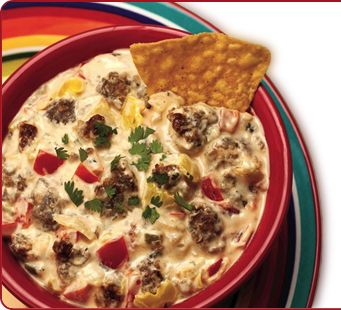 Zesty Fiesta Sausage Dip Sausage Dip Recipes Stuffed Peppers