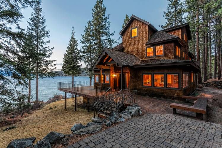 Luxury Homes For Sale In Cape Cod Lake Tahoe And Lake Geneva Rustic House Modern Lake House House