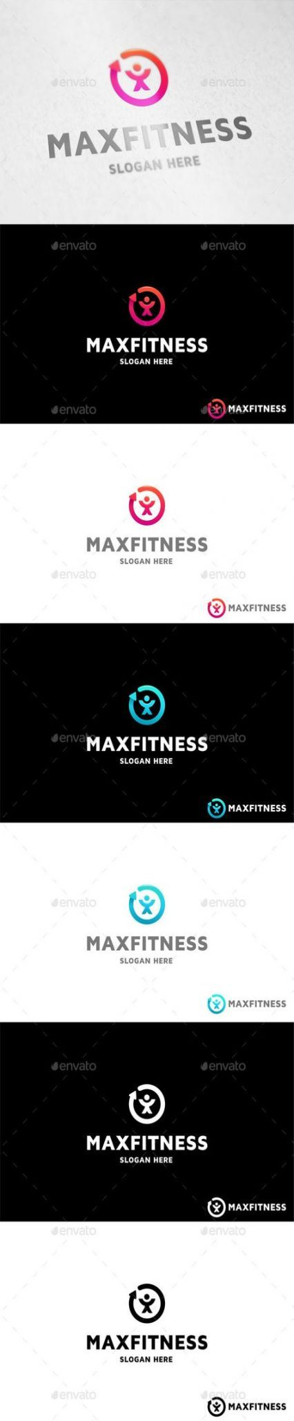 25+ New Ideas For Fitness Design Logo Colour #fitness
