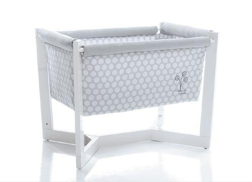 99c0a42fa Minicuna Aluminio Lunares Gris Interbaby   Habitació bebe   Plastic laundry  basket, Laundry basket y Bassinet
