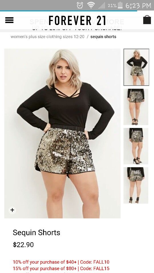 288856f4b24 In love with these Plus size Sequin shorts from forever21 ...
