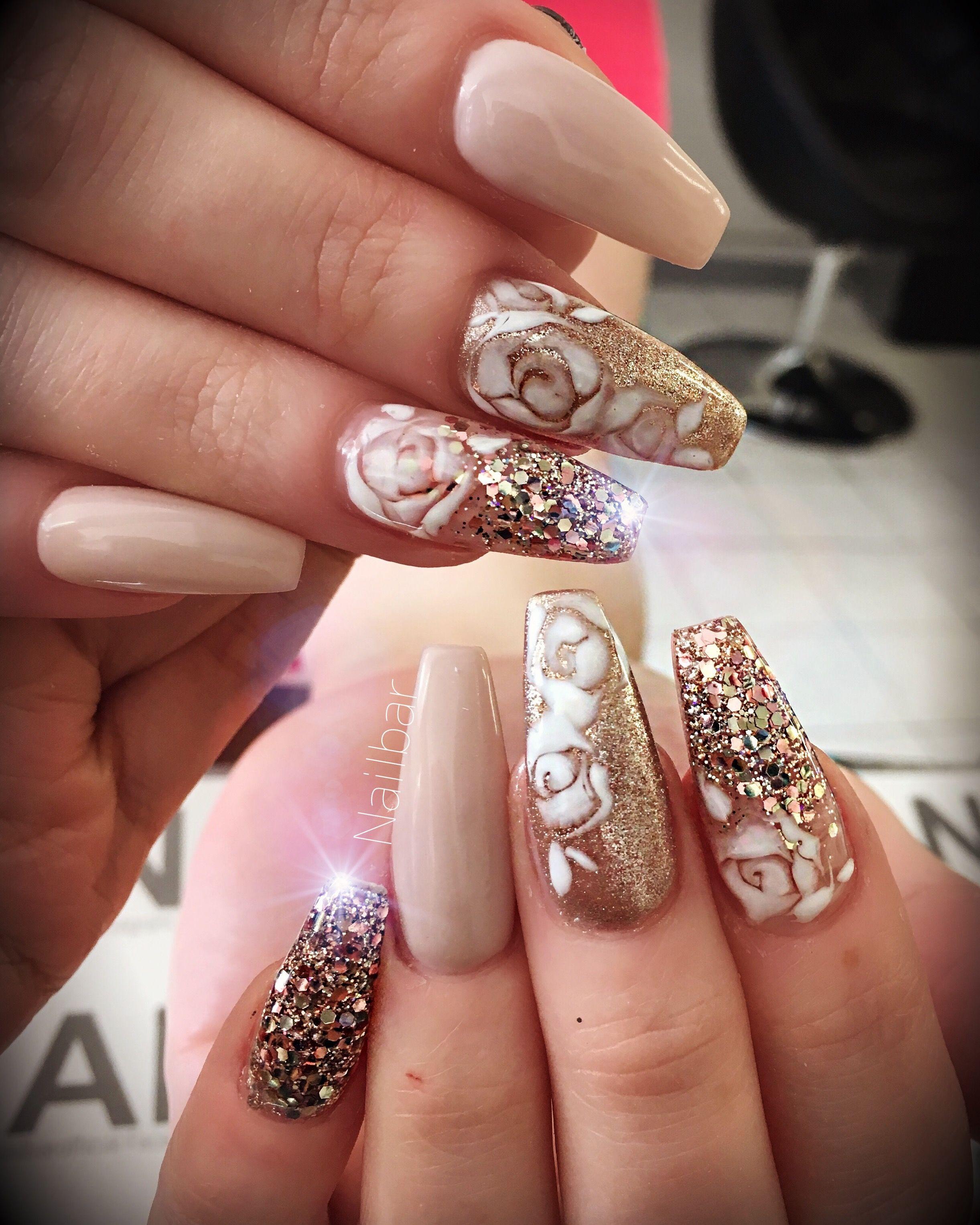 Pin by Valerie Okeefe on fancy nails rhinestones | Pinterest