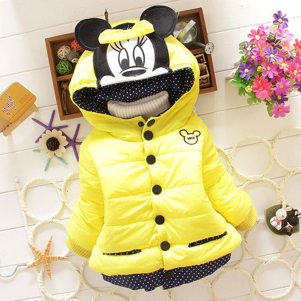 9c7004b9d 2015 Children's Winter Outerwear Coats ᐂ Mickey Girl's Hooded. Look at this  adorable Minnie mouse jacket. And it's yellow!