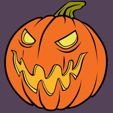 Coloriage m chante citrouille d 39 halloween a imprimer dessin colorier et dessin non colorier - Dessins a imprimer halloween ...