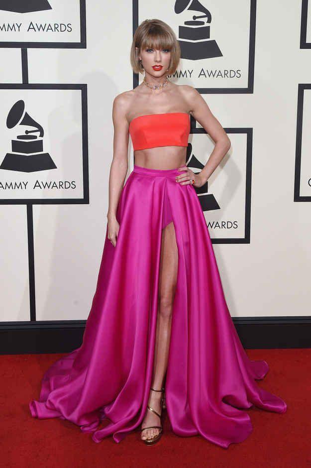 Taylor Swift en Versace.