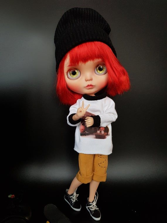 Blythe Custom doll my Evei - OOAK custom blythe - doll to soul gift - Cyber Week-Christmas gift - red hair #dollcare