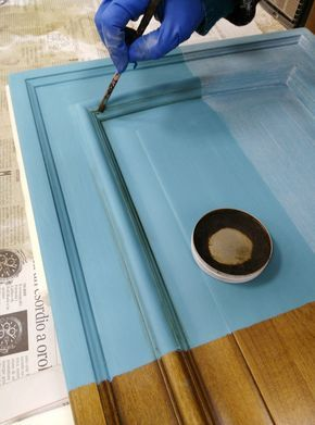 verniciare le ante di una cucina con la vintage paint Rinnova la tua ...