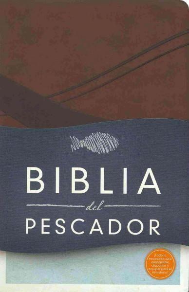 Biblia del pescador: Reina-Valera 1960, chocolate simil piel