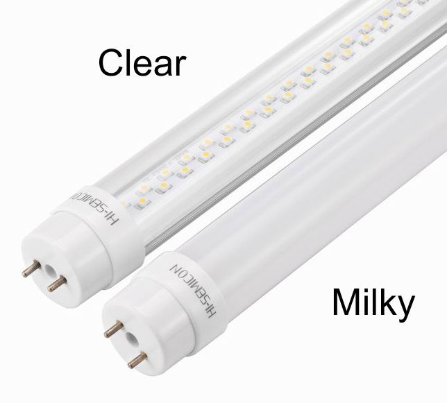 The Difference Between Clear And Milky Led Tube Lights With Images Led Tubes Led Tube Light Tube Light