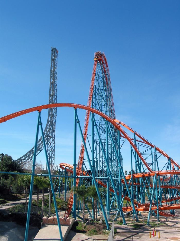 Goliath Photo From Six Flags Magic Mountain Amusement Park Rides Roller Coaster Thrill Ride