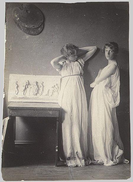 Thomas Eakins: [Two Pupils in Greek Dress] (43.87.17) | Heilbrunn Timeline of Art History | The Metropolitan Museum of Art