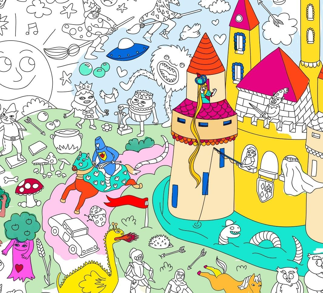 Omy Coloring Posters Coloring Posters Artistic Space Poster