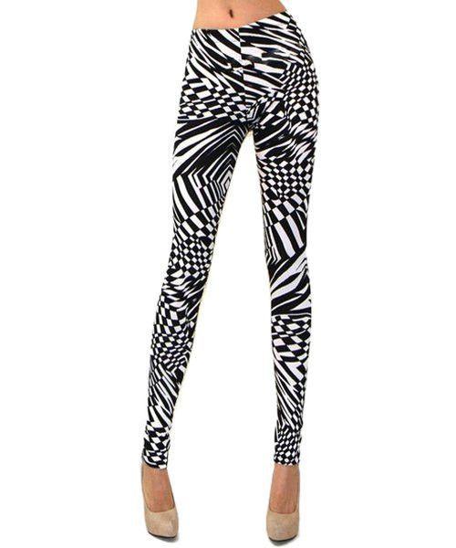 Stylish Slimming Print Leggings For Women
