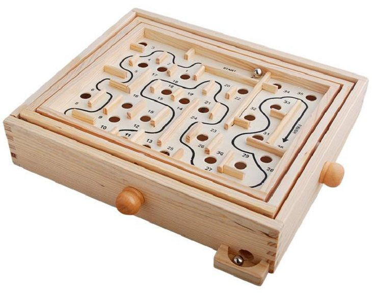 Brio Labyrinth Boards Game Wooden New Toy Skill Ball Maze Box Practice Christmas