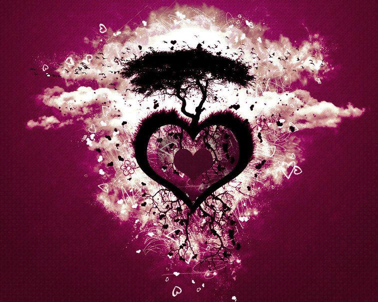 albero amore cuore File vettoriale