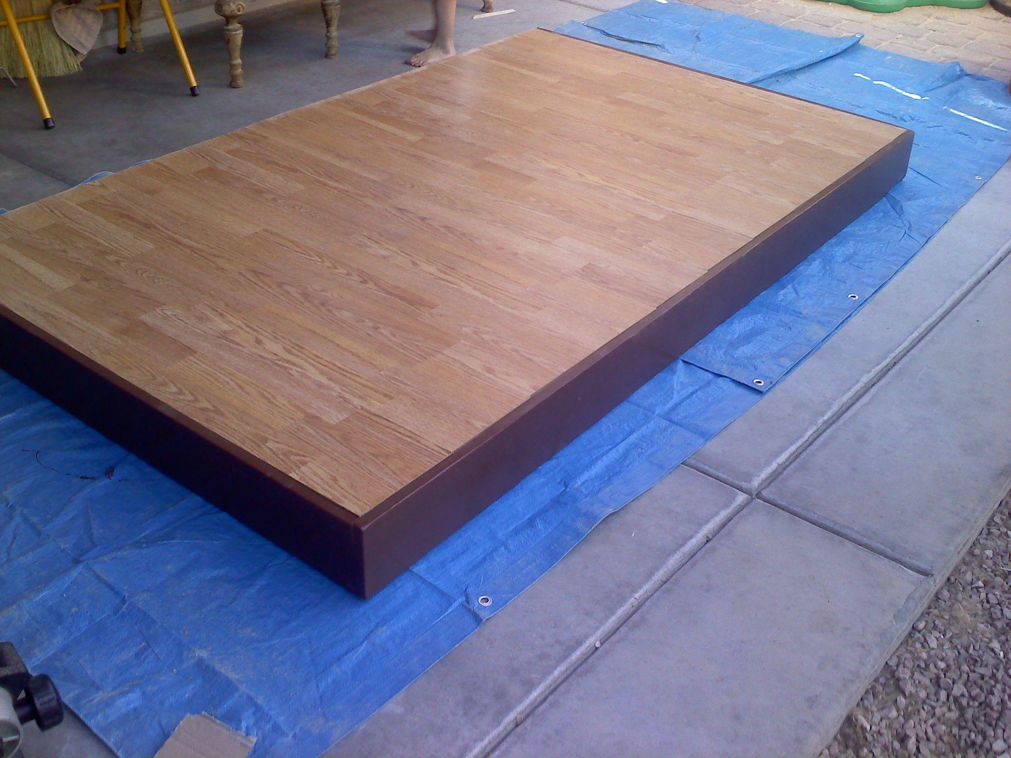 Dance Floor Out Of 2 Pallets Covered In Laminate Wood Flooring Wide Plank Hardwood Floors Wood Floors Wood Floors Wide Plank