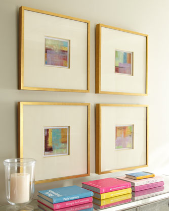 Small art big frames.
