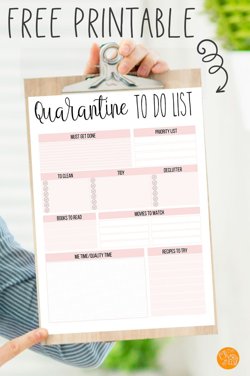 Free Printable To Do List For Staying Home Free Printables To Do List Printable Planner