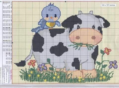 Vaca y pajaro