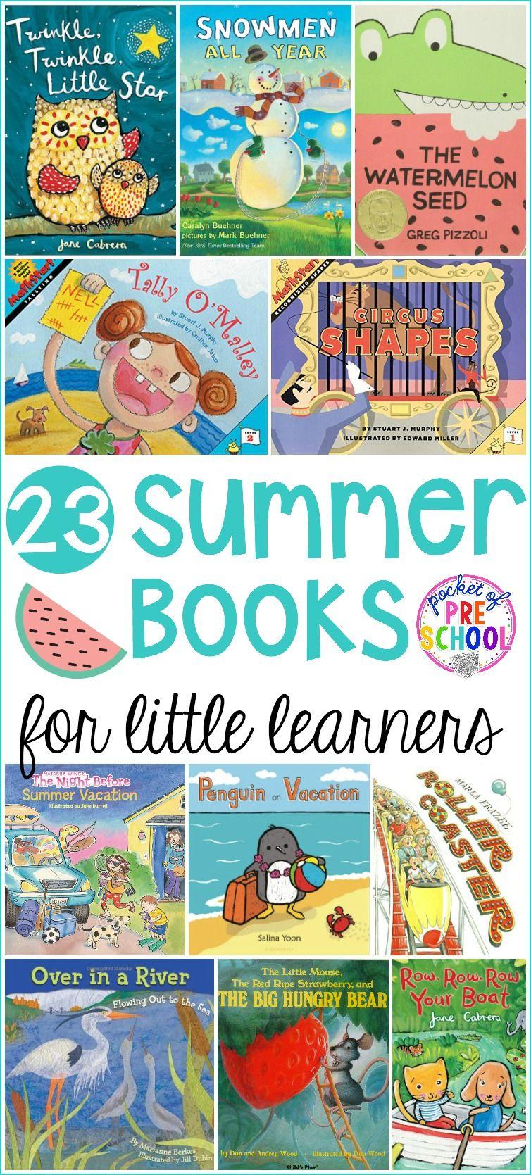 Summer Books For Little Learners Summer Preschool Themes Summer
