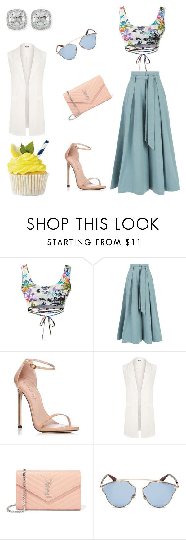 """""""Spring it together"""" by kimoneforbidden ❤ liked on Polyvore featuring Temperley London, Stuart Weitzman, WearAll, Yves Saint Laurent, Christian Dior and Frederic Sage"""