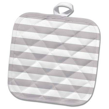 3drose Grey And White Stripes Pattern Trendy And Modern Classic Pot Holder 8 By 8 Inch Stripes Pattern Stripes Breton Stripe