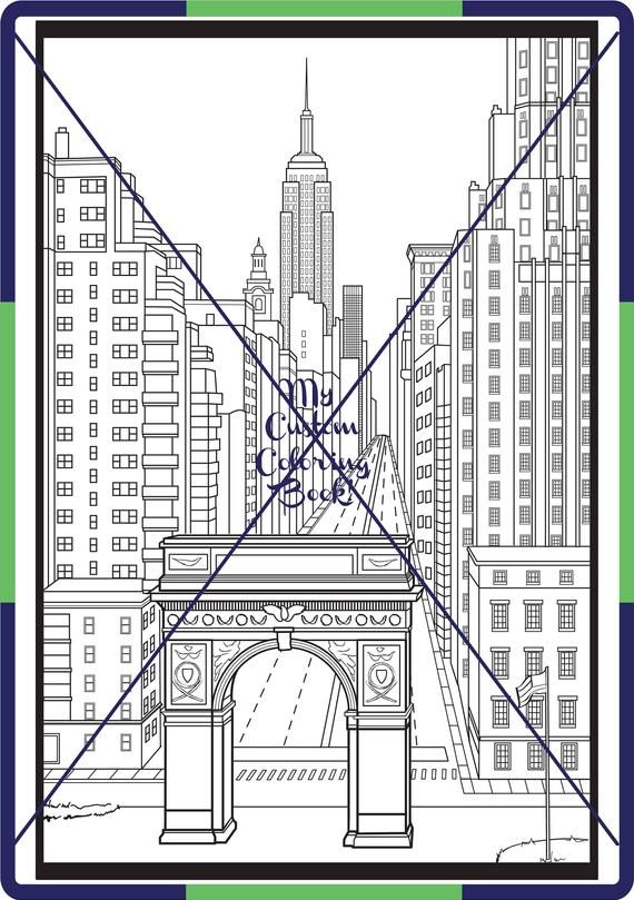 Download New York City Coloring Page Washington Square Park